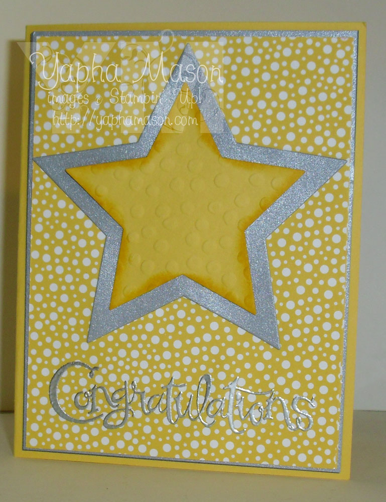 Congratulations Star Card by Yapha