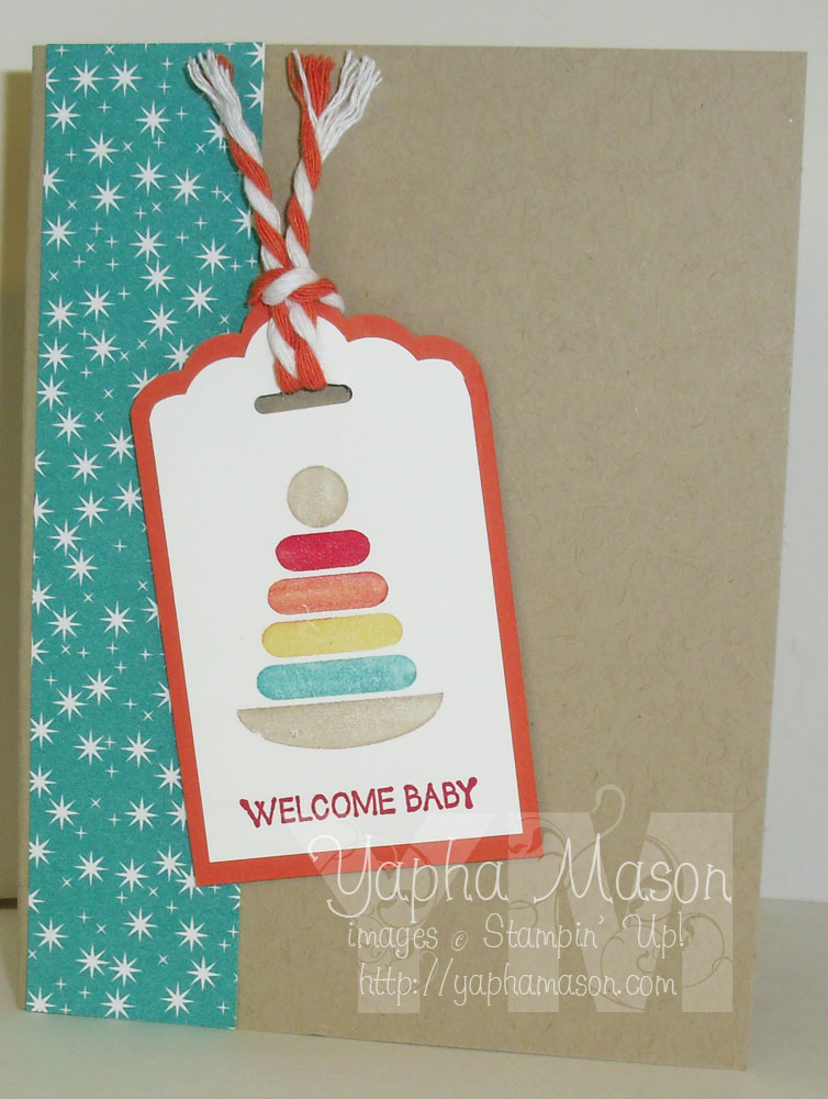 Bright Color Baby Card by Yapha
