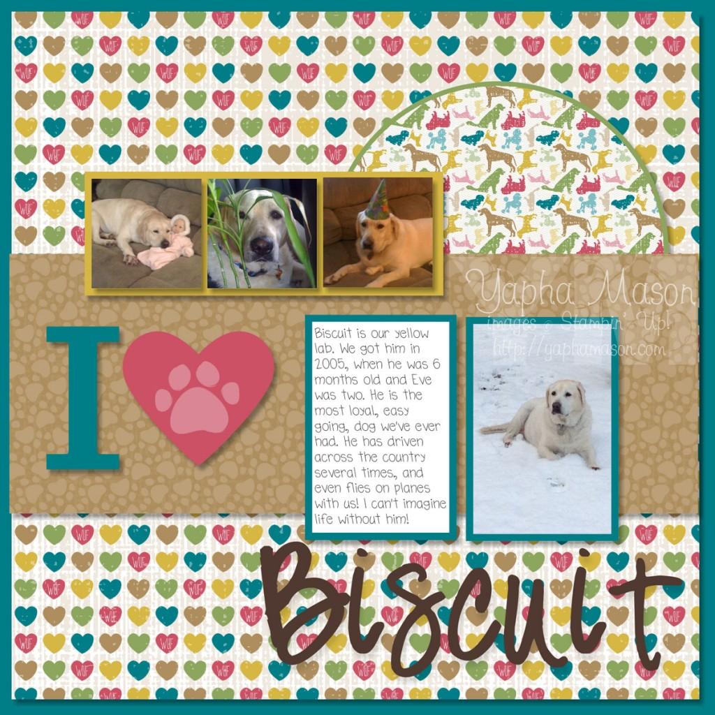 I {heart} Biscuit Digital Scrapbook Page by Yapha