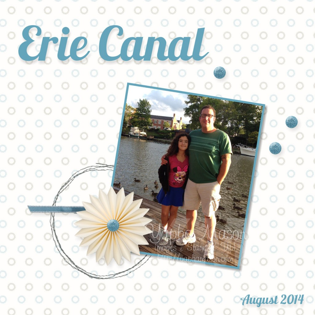 Erie Canal Scrapbook Page by Yapha