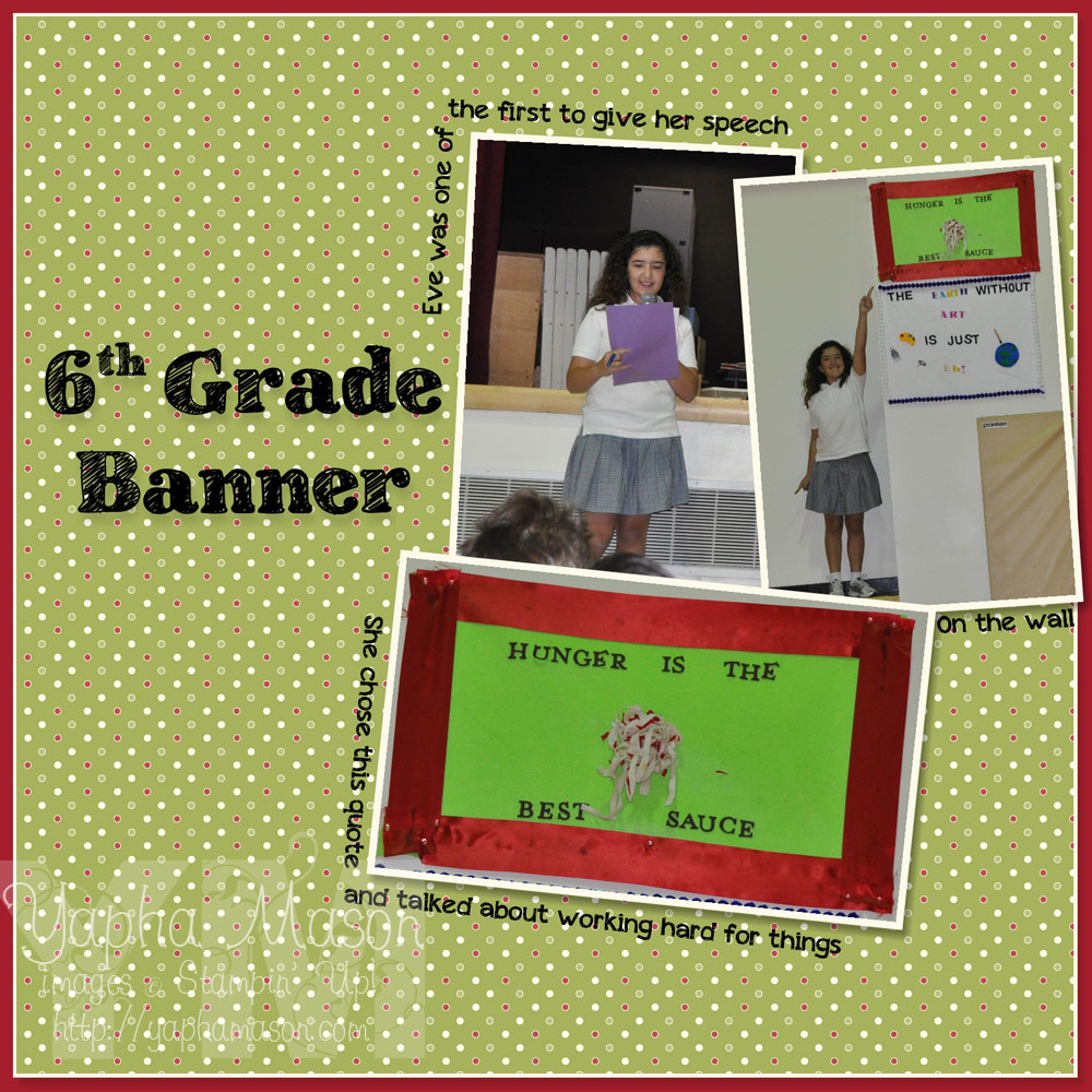6th Grade Banner by Yapha Mason