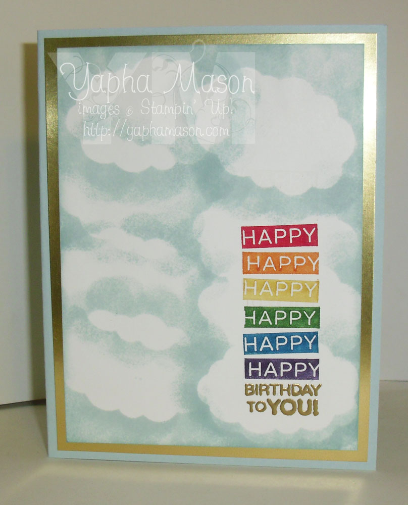 Rainbow Birthday Card by Yapha