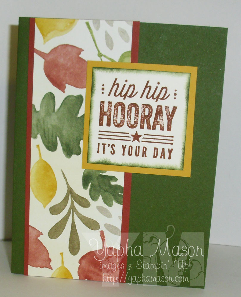Hip Hip Hooray Fall Birthday Card by Yapha