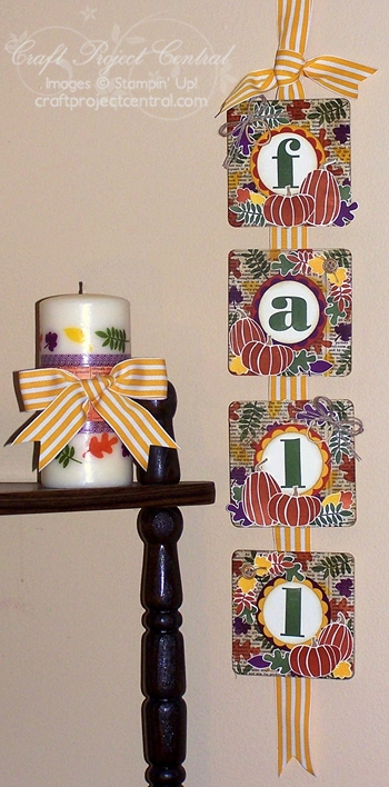 Fall Banner & Candle