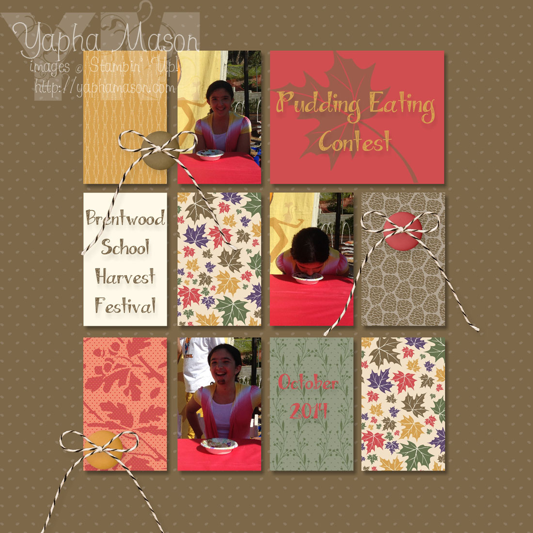 Pudding Eating Scrapbook Page by Yapha