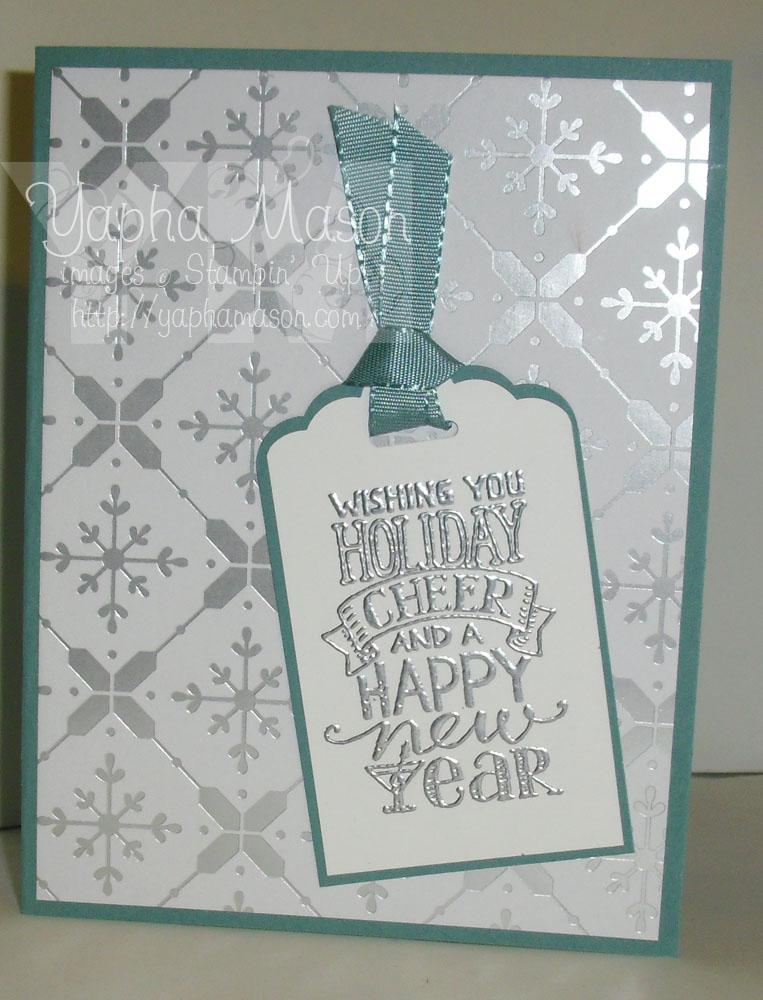 Holiday Cheer Tag Card by Yapha