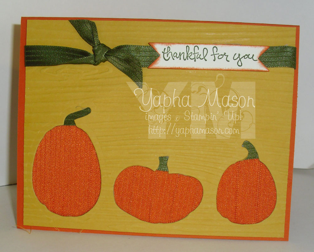 Ribbon Pumpkin Card by Yapha