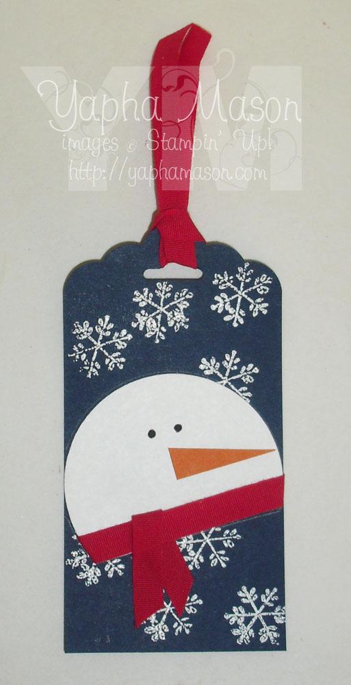 Snowman tag by Yapha