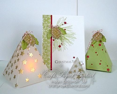 Triangle Shaped Lantern & Card