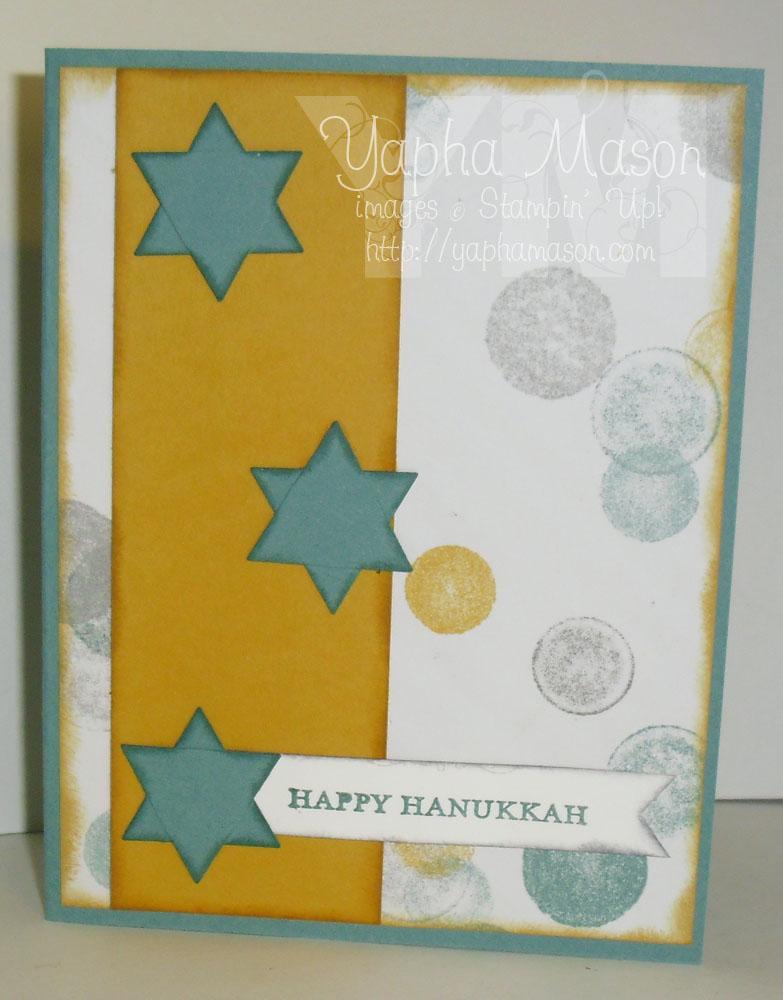 Jewish Star Hanukkah Card by Yapha