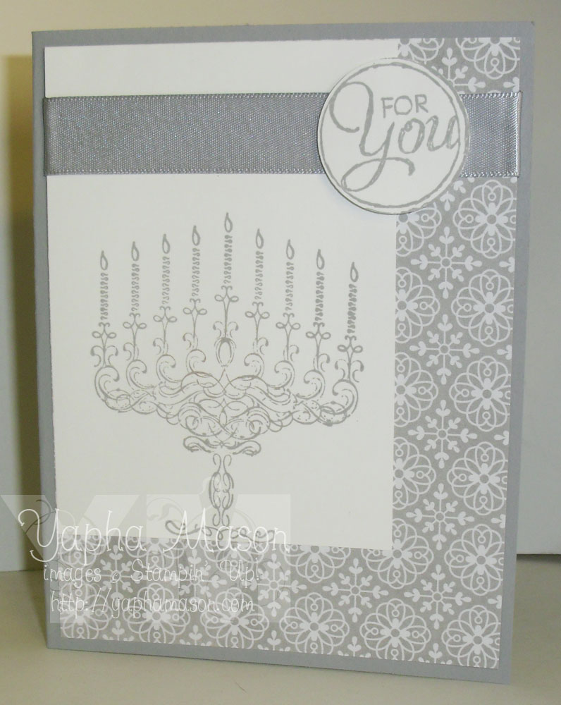 Smoky Slate Hanukkah Card by Yapha