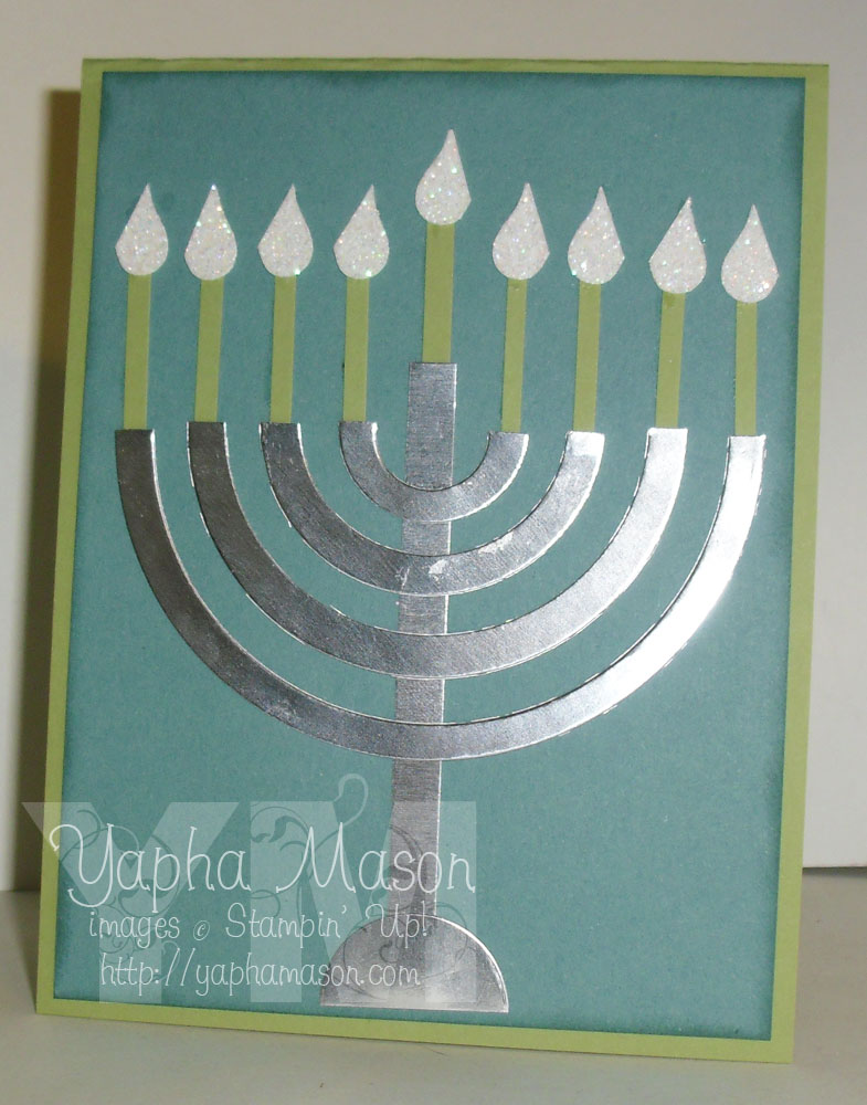Circle Framelit Menorah Card by Yapha