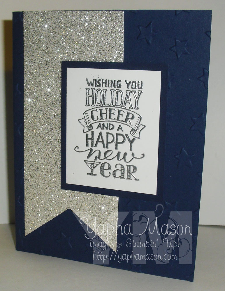 Silver Banner New Year's Card by Yapha