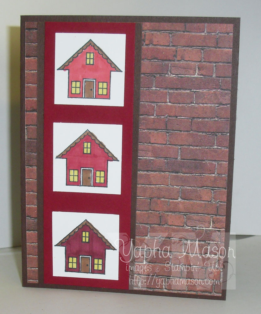 Little Red House card by Yapha