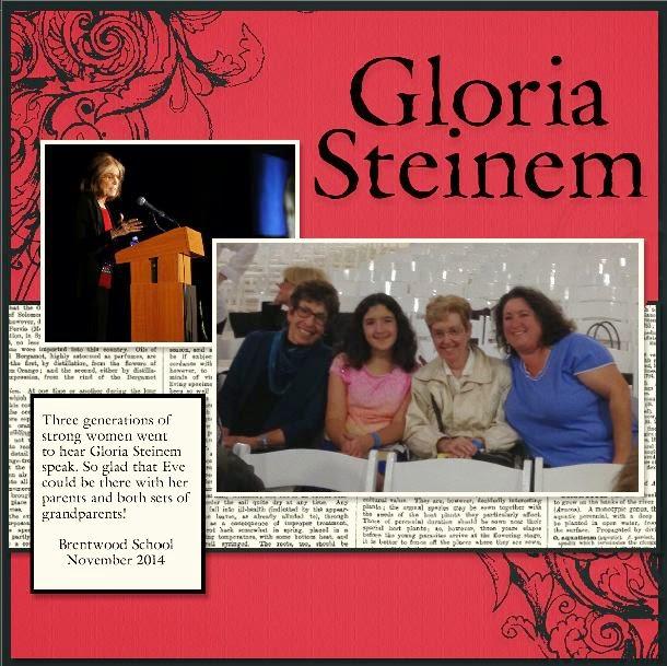 Gloria Stein Scrapbook Page by Yapha Mason