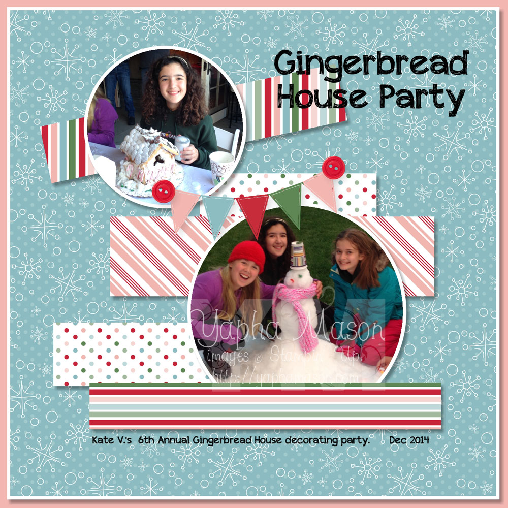 Gingerbread Party Scrapbook Page by Yapha