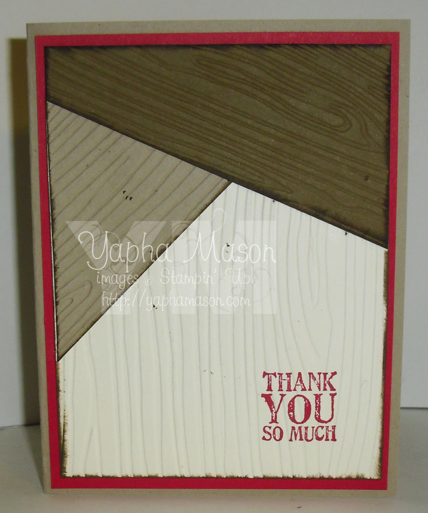 Wooden thank you note by Yapha