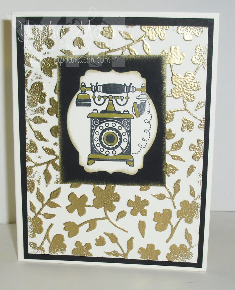 Antique Phone card by Yapha