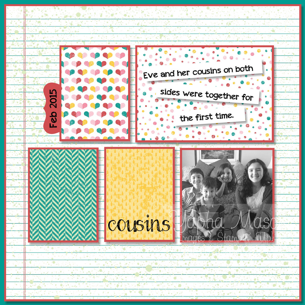 Cousin Scrapbook Page by Yapha