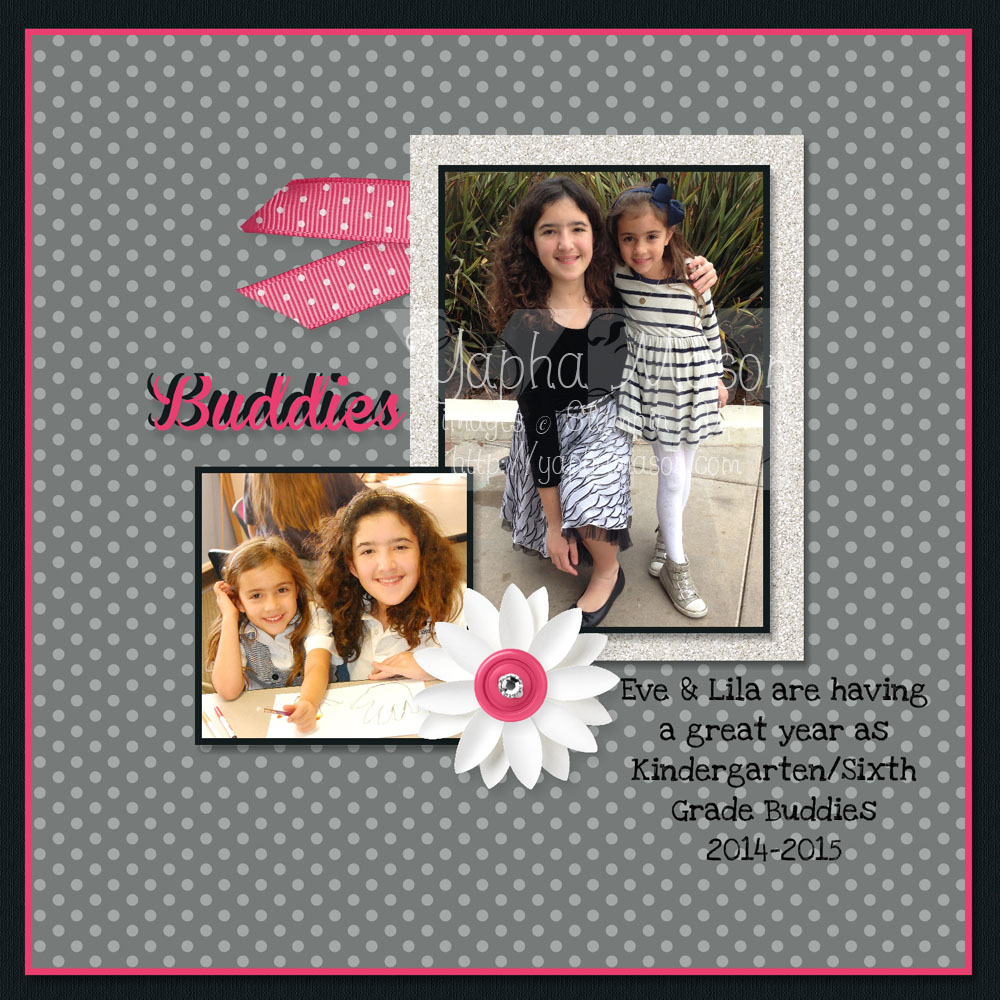 Buddies Scrapbook Page by Yapha