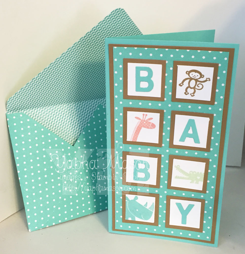 Baby Block Card by Yapha