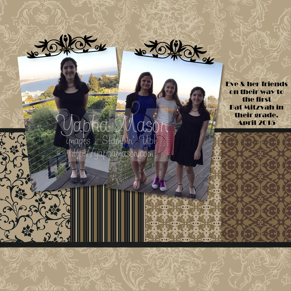 Bat Mitzvah Party Scrapbook Page by Yapha