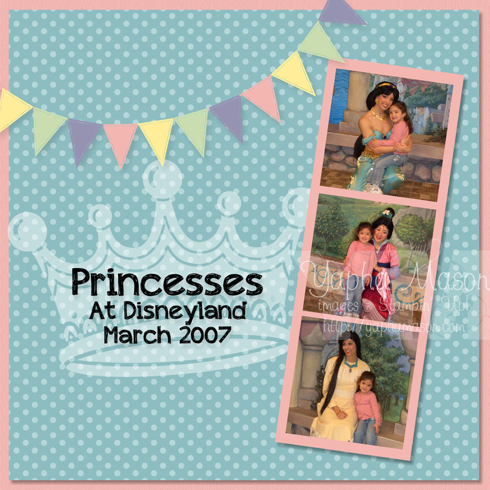 Princess Scrapbook Page by Yapha