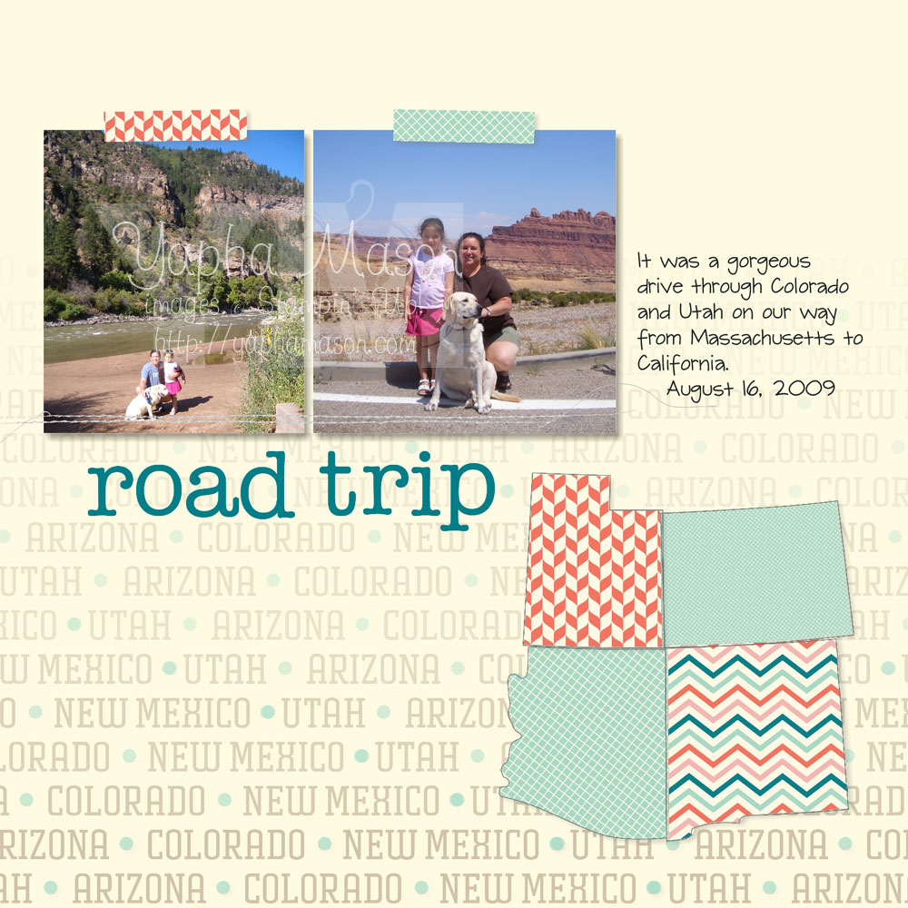 Road Trip Scrapbook page by Yapha