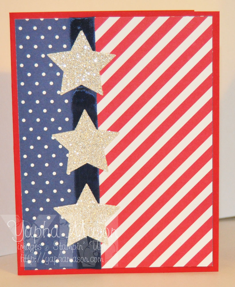 Patriotic Silver Stars by Yapha