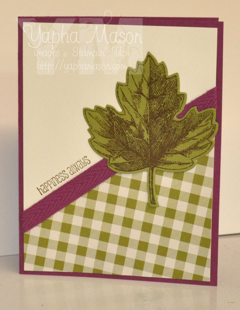Vintage Leaves Happiness Always by Yapha