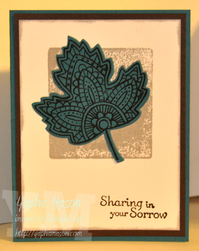 Another Sympathy Card by Yapha