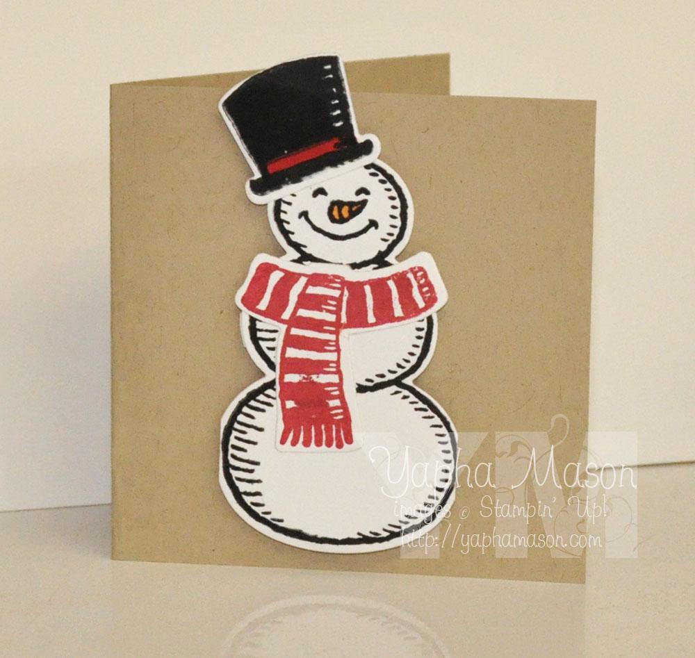 Snowman Mini Card by Yapha