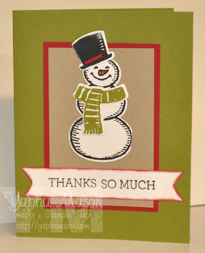 Snowman Thank You by Yapha