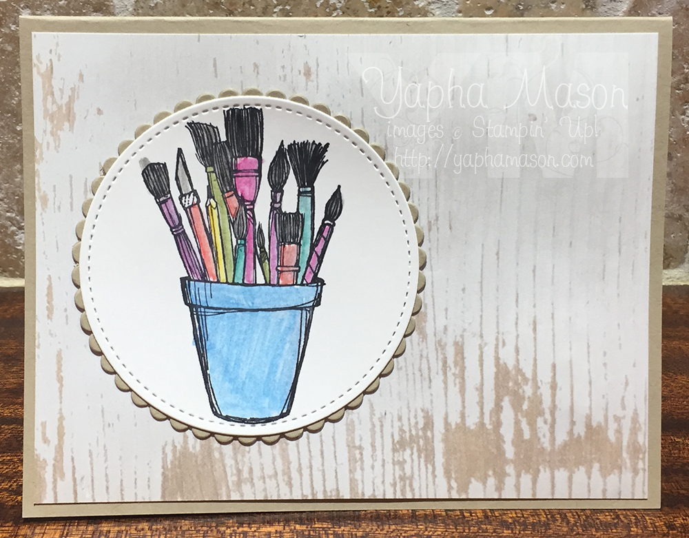 Crafting Forever Brushes Card