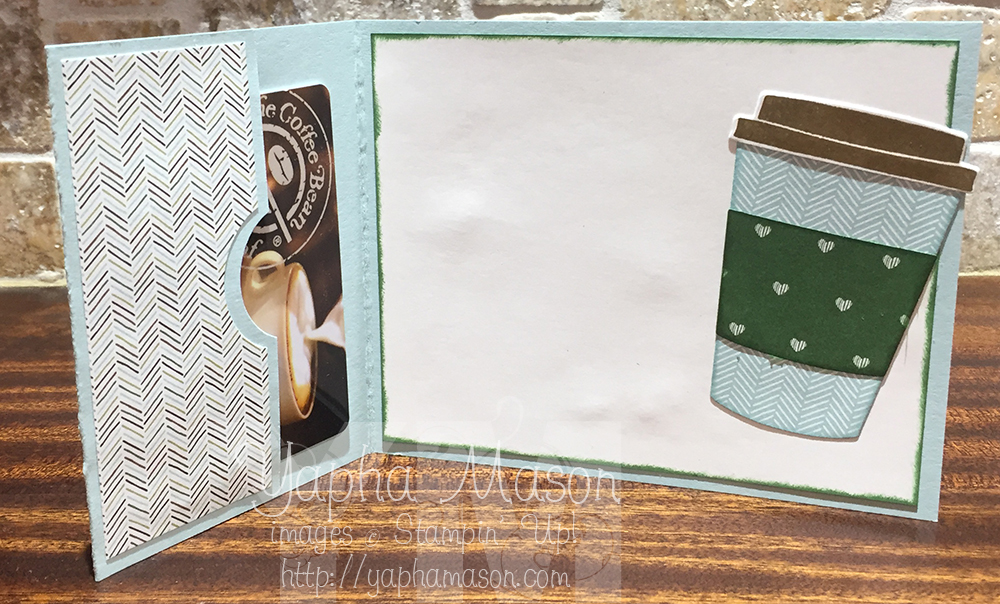 Birthday Coffee Gift Card Holder by Yapha