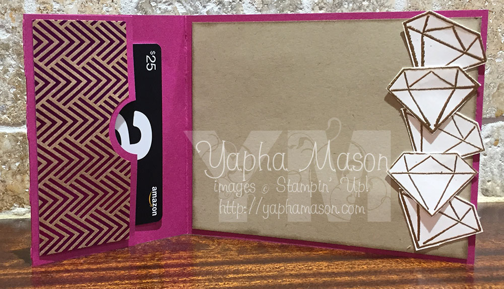 Diamond gift card holder (inside) by Yapha