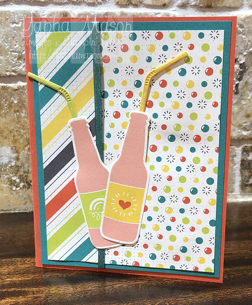 Bubble Over Pink Drink Card by Yapha