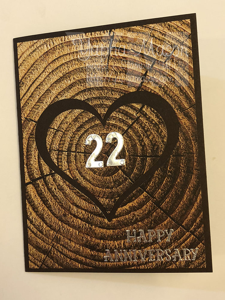 Wood Anniversary Card by Yapha