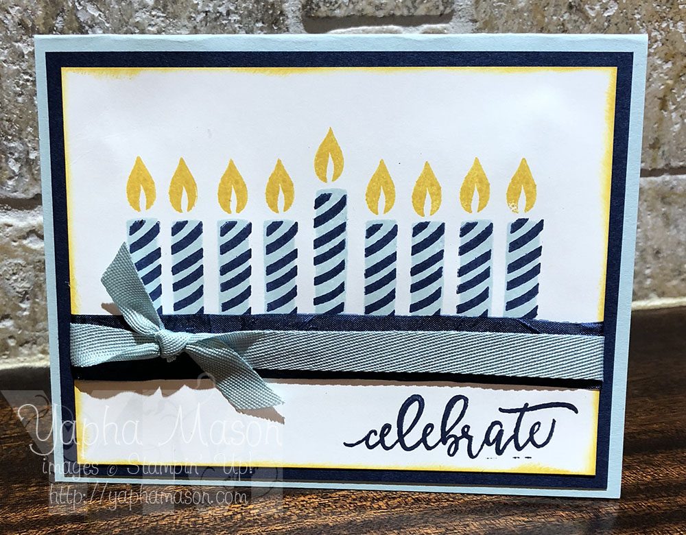 Hanukkah Candles with Picture Perfect Birthday by Yapha