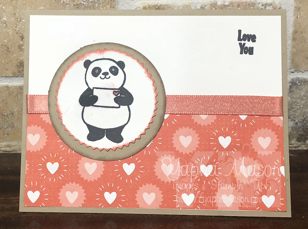 Party Panda Valentine by Yapha