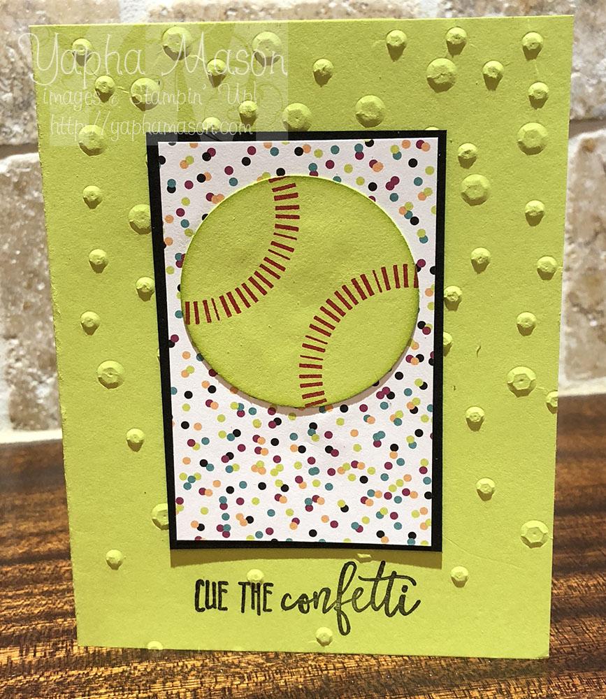 Softball Confetti by Yapha