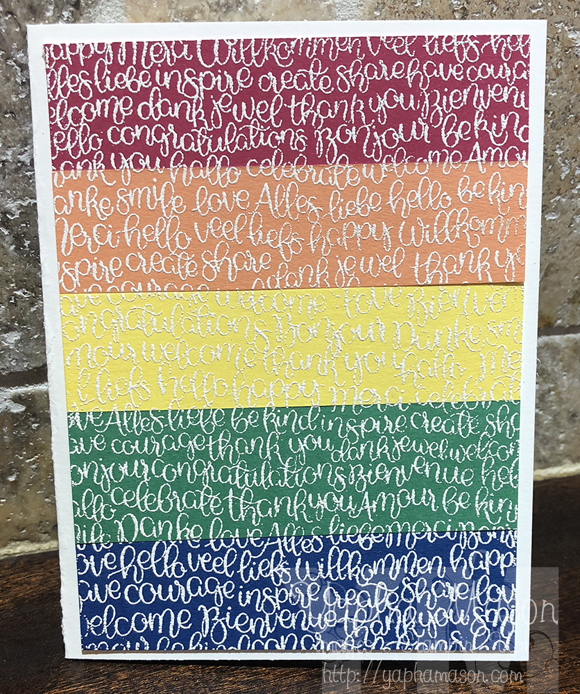 Pride Month Rainbow Handwritten Stamp by Yapha