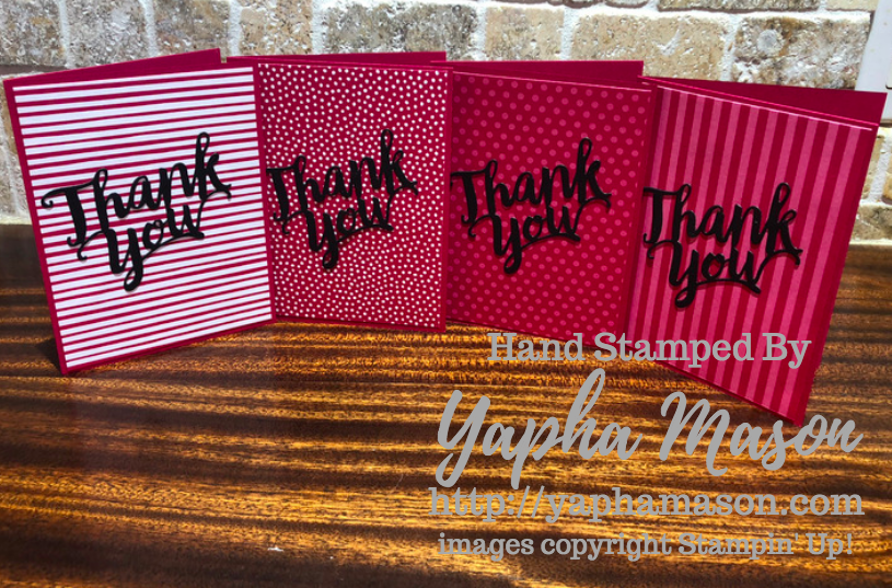 Lovely Lipstick Thank You Notes by Yapha
