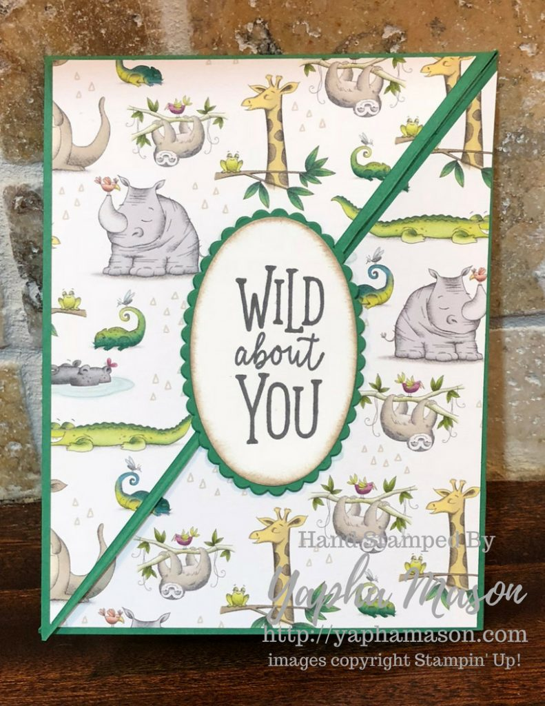 Wild About You card by Yapha