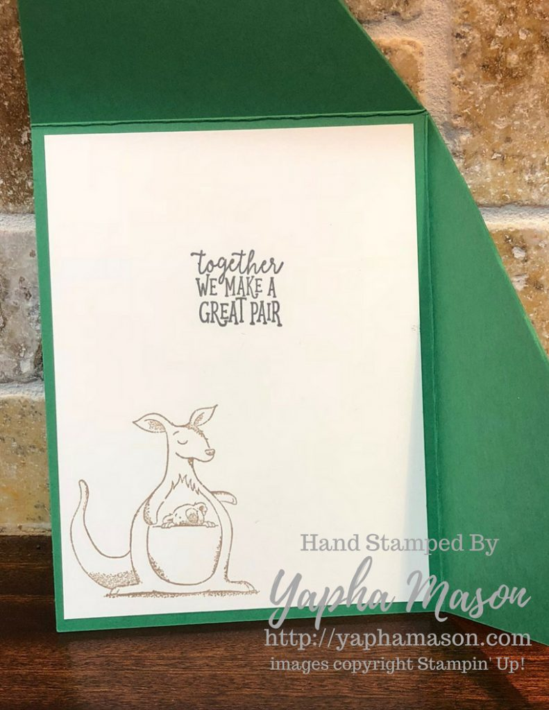 Wild About You card (open) by Yapha