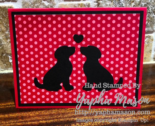 Dog Silhouette card by Yapha